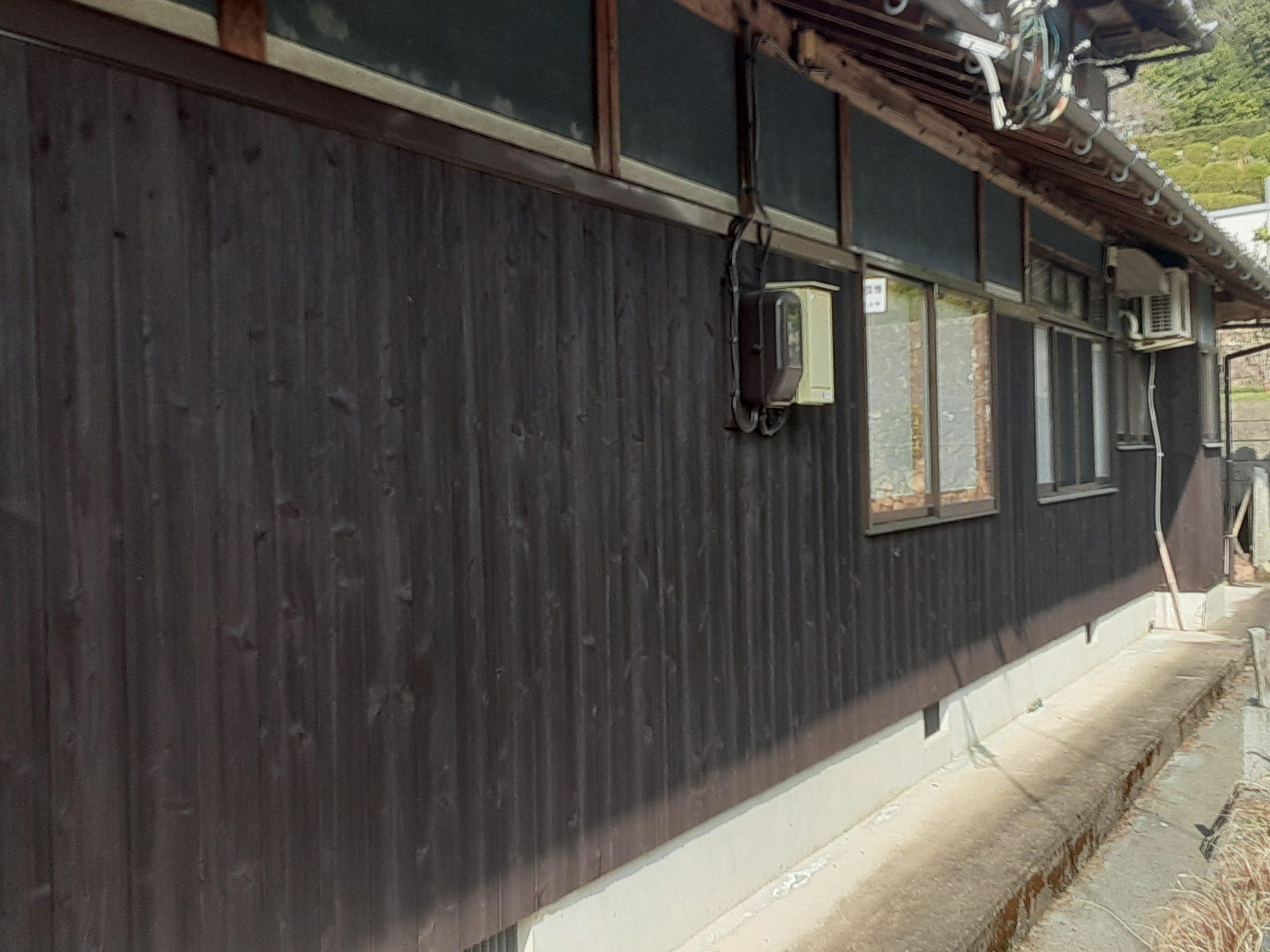 柏原町、外壁塗装工事