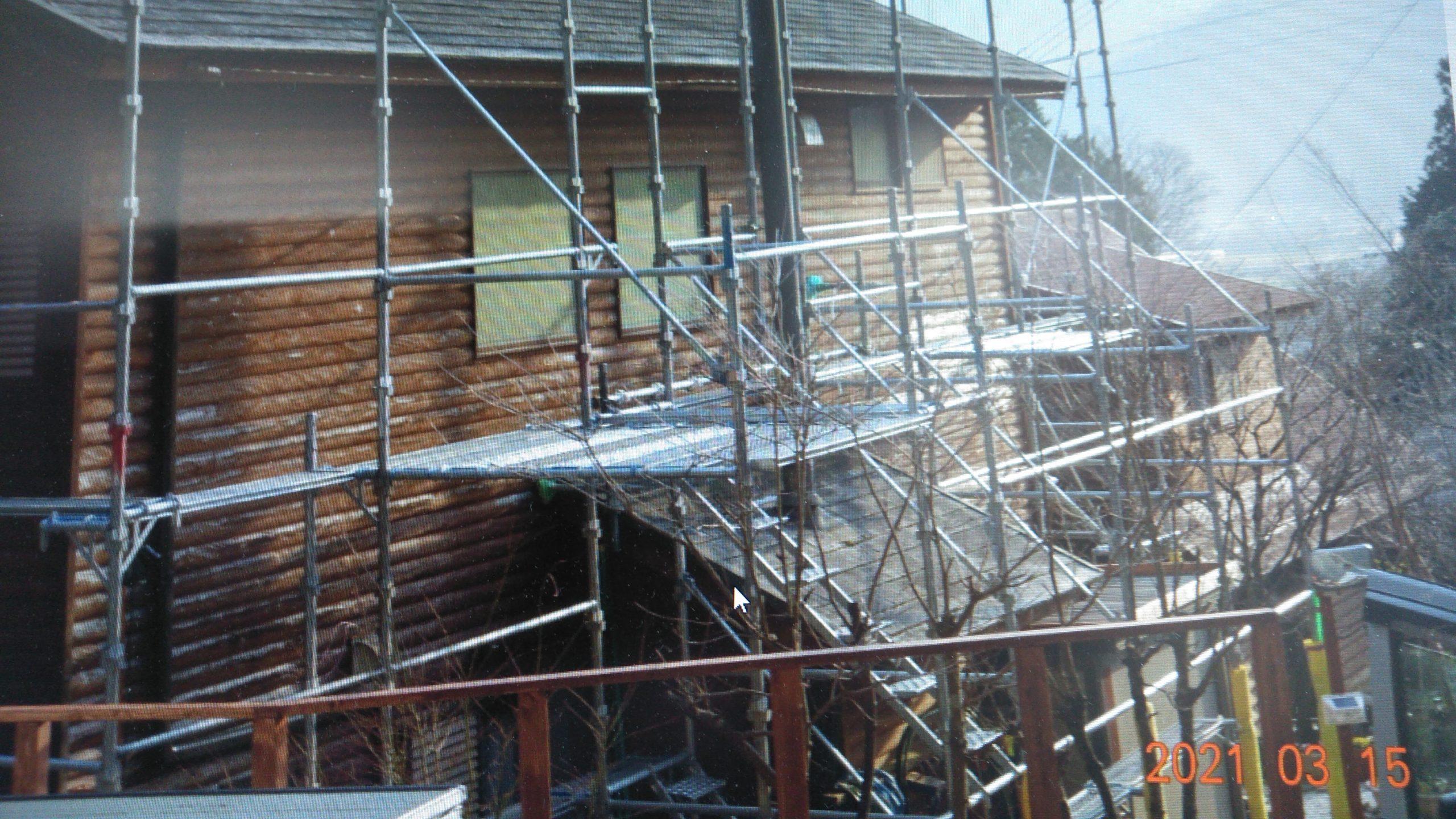 氷上町 別荘外壁塗装工事