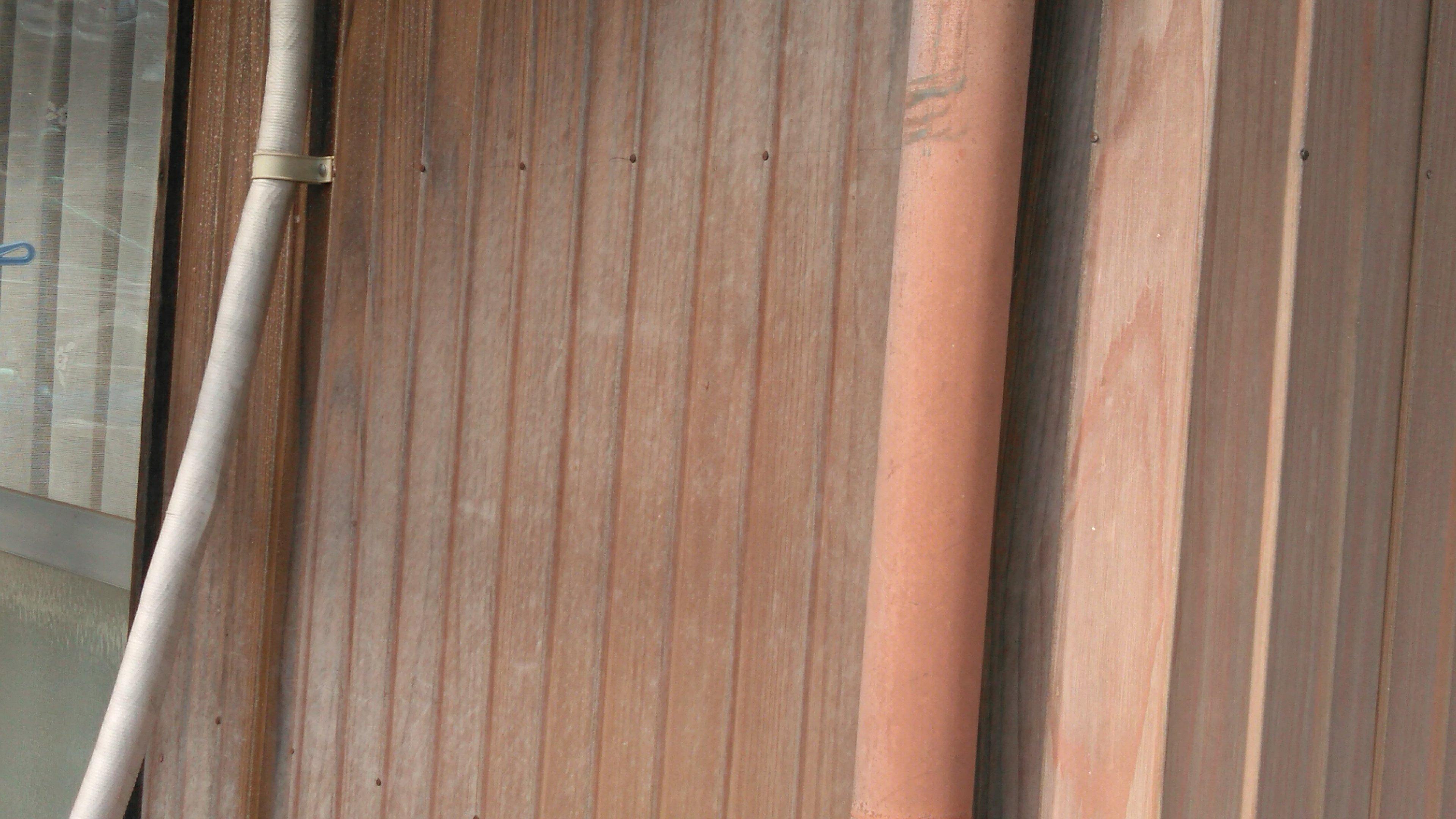 柏原地区 玄関周り、リブトタン壁塗装工事